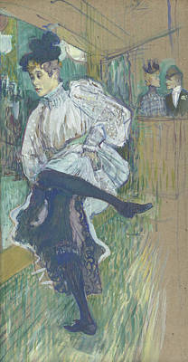 Painting - Jane Avril Dancing by Henri de Toulouse-Lautrec