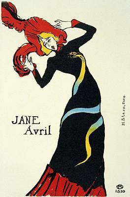 Dancer Mixed Media - Jane Avril - French Dancer 1 - Vintage Advertising Poster by Studio Grafiikka