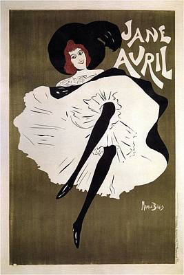Dancer Mixed Media - Jane Avril - French Dancer - Vintage Advertising Poster by Studio Grafiikka
