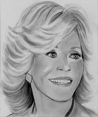 Drawing - Jane by Barb Baker