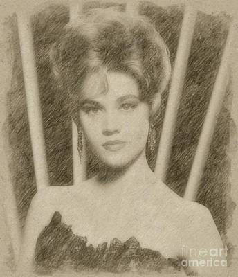 Fantasy Drawings - Jane Fonda, Actress by Frank Falcon
