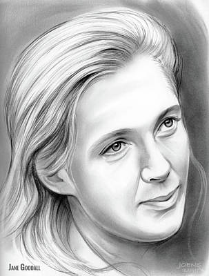 Drawings Rights Managed Images - Jane Goodall Royalty-Free Image by Greg Joens