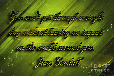 Digital Art - Jane Goodall Quote by Melissa Messick