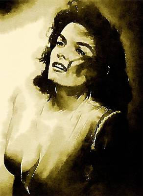 Television Painting - Jane Russell By John Springfield by John Springfield