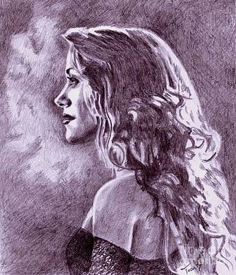 Drawing - Jane Seymour by Toon De Zwart