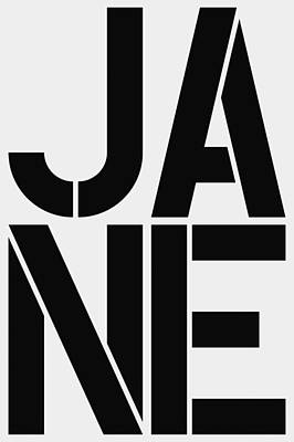 Dot Painting - Jane by Three Dots