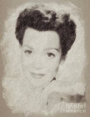 John Wayne Drawing - Jane Wyman, Actress by Frank Falcon