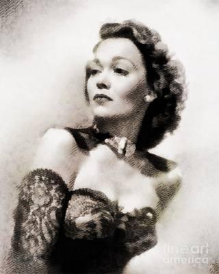 Jane Wyman, Vintage Hollywood Actress Art Print by John Springfield