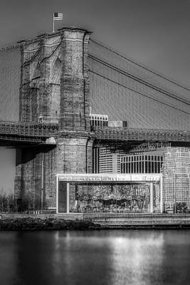 Midtown Photograph - Jane's Carousel Brooklyn Bridge Bw by Susan Candelario