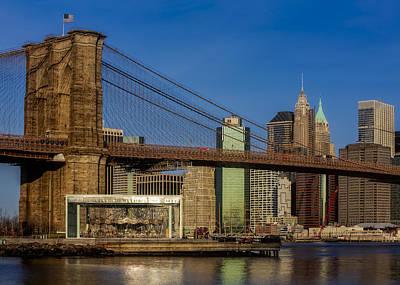 Photograph - Jane's Carousel Brooklyn Bridge Nyc by Susan Candelario