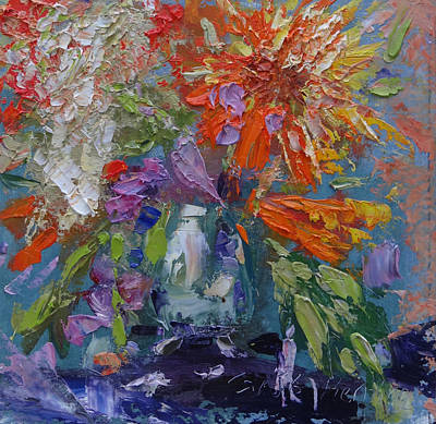 Painting - Jane's Wildflowers by Carol Berning