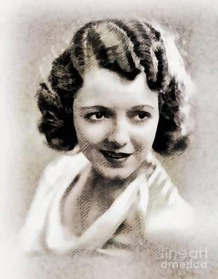 Janet Gaynor, Vintage Actress By John Springfield Art Print by John Springfield