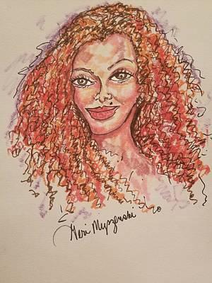 Michael Jackson Art Drawing - Janet Jackson by Geraldine Myszenski