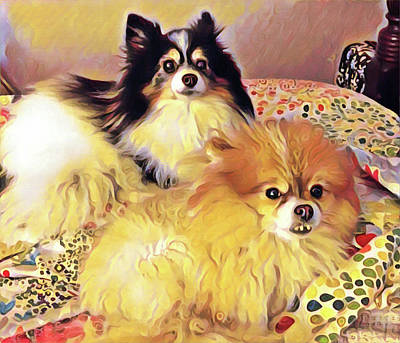 Painting - Janet's Pets by Gary Grayson