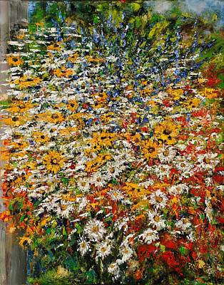 Hacunda Wall Art - Painting - Janet's Wildchild Flowers by Robert James Hacunda