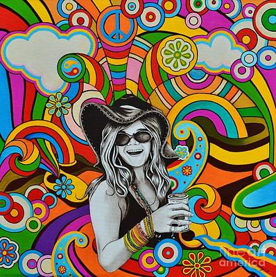 Art Print featuring the painting Janis In Wonderland by Joseph Sonday