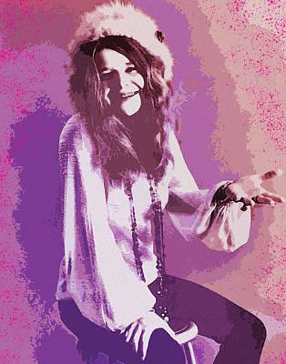 Digital Art - Janis Joplin 1 by Joy McKenzie