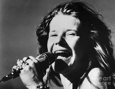Microphone Photograph - Janis Joplin (1943-1970) by Granger