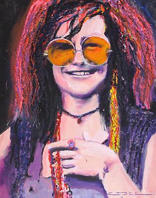 Janis Joplin 2 Print by Eric Dee