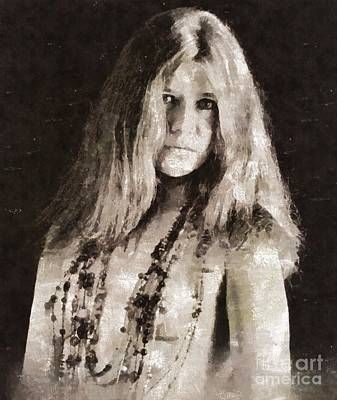 Jazz Royalty-Free and Rights-Managed Images - Janis Joplin by Mary Bassett by Mary Bassett