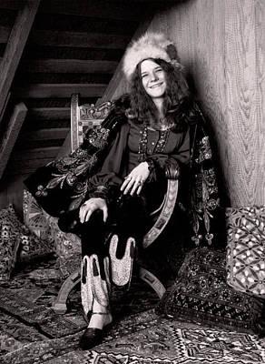 Janis Joplin Photograph - Janis Joplin Casual by Daniel Hagerman