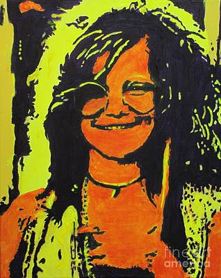 Janis Painting - Janis Joplin by Eric Dee