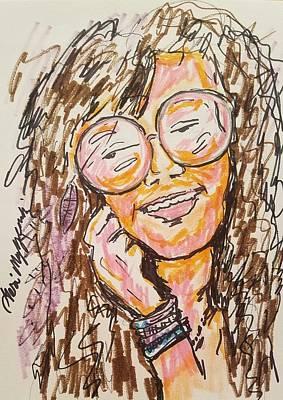 Joplin Drawing - Janis Joplin by Geraldine Myszenski