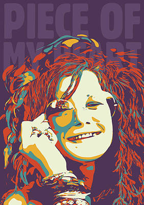 Pop Art Royalty-Free and Rights-Managed Images - Janis Joplin by Greatom London