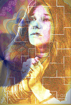 Janis Joplin Drawing - Janis Joplin In Rock We Trust by Donald K