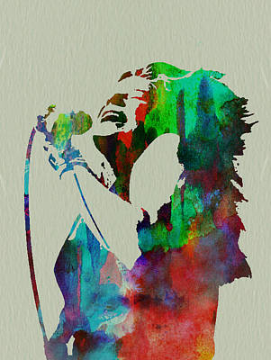 Watercolor Painting - Janis Joplin by Naxart Studio