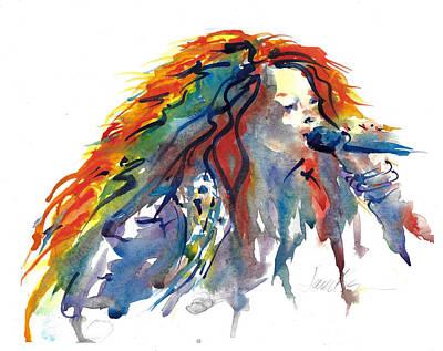 Painting - Janis Joplin by Jacki Kellum