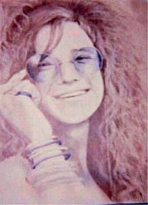 Janis Joplin Drawing - Janis Joplin by Janet Gioffre Harrington