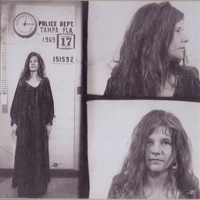 Police Art Painting - Janis Joplin Mug Shot 1969 Photo by Tony Rubino