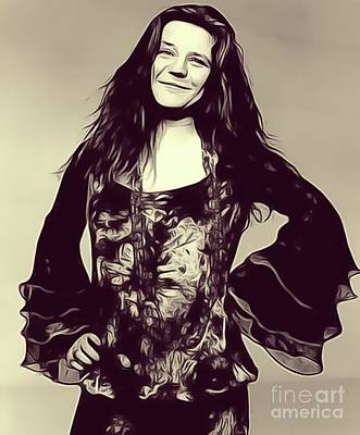 Music Royalty-Free and Rights-Managed Images - Janis Joplin, Music Legend by Esoterica Art Agency