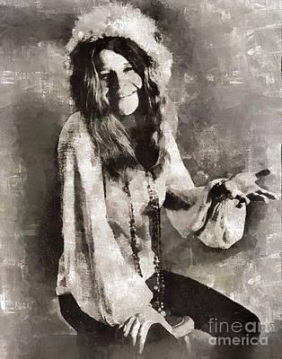 Musicians Royalty Free Images - Janis Joplin, Musician Royalty-Free Image by Esoterica Art Agency