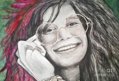Joplin Drawing - Janis Joplin by Paula Soesbe