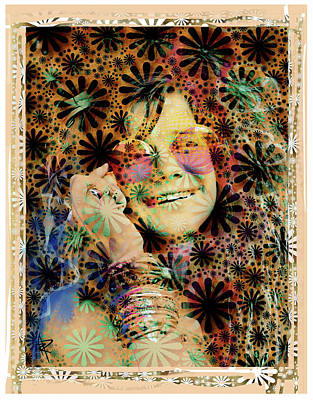 Mixed Media - Janis Joplin by Russell Pierce