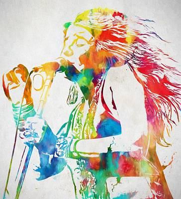 Revolution Mixed Media - Janis Joplin Singing by Dan Sproul
