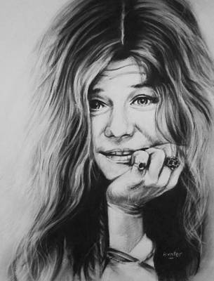 Janis Joplin Print by Steve Hunter