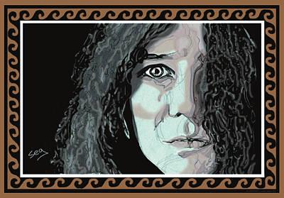Janis Joplin Art Print by Suzanne Gee
