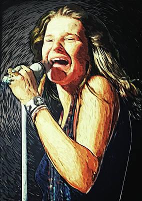 Overdose Digital Art - Janis Joplin by Taylan Apukovska