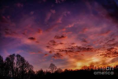 Photograph - January Appalachian Sunset Afterglow by Thomas R Fletcher