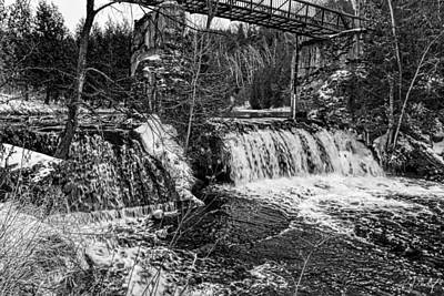 January At Cataract Falls Original by Phill Doherty