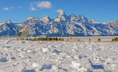 Photograph - January At The Tetons by Yeates Photography