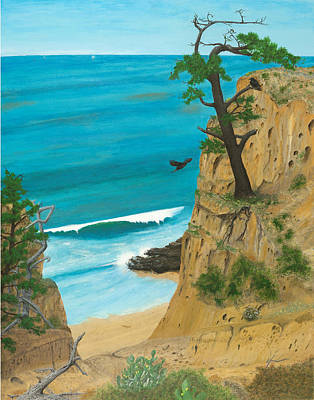Painting - January At Torrey Pines by L J Oakes