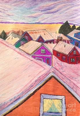 January Colors Art Print