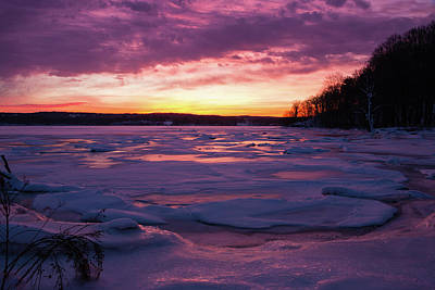 Photograph - January Dawn At Esopus Meadows I by Jeff Severson