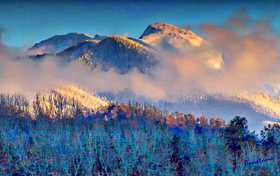 Digital Art - January Evening Truchas Peak by Anastasia Savage Ealy