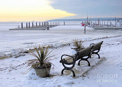 Photograph - January Harbor Freeze  by Janice Drew