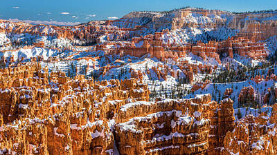 Red Rock Photograph - January In Bryce  by Joseph Smith